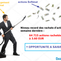 Softimat - rachats d'actions à un niveau record !