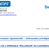 Vente immeuble au Luxembourg [Softimat] = 11,5 M€ de plus-value !